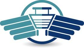Голодает логотип приобретения Стоковые Изображения