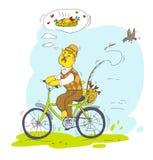 Голодная рыбная ловля кота Стоковое Изображение