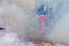 Голодный фестиваль призрака на старом городке Пхукета стоковые фото