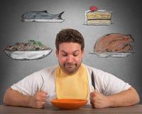 голодный человек Стоковая Фотография