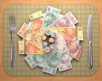 Голод для денег иллюстрация штока