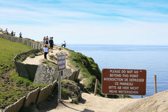 Голод для лучшего взгляда Скалы Moher Ирландия Стоковое Изображение RF