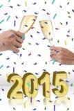 год партии принципиальной схемы новый Стоковое Фото