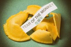 Год печенья с предсказанием обезьяны Стоковое Изображение RF