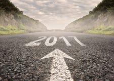 Год 2017 покрашенный на дороге Стоковые Фотографии RF