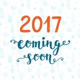 2017 год приходя скоро Стоковые Изображения RF