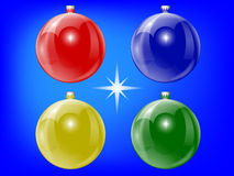 год рождества 2007 шариков Стоковое Фото