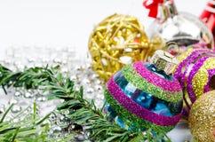 год рождества 2007 шариков Стоковые Изображения RF