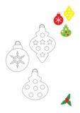 год рождества 2007 шариков Стоковые Фотографии RF