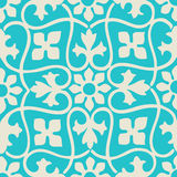 Год сбора винограда безшовного цветочного узора вектора красочный Стоковые Фото