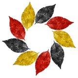 Год сбора винограда выходит рамка с цветами национального флага Германии Стоковое фото RF