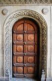 Год сбора винограда, деревянная дверь Стоковая Фотография RF