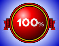 Год сбора винограда знак 100 процентов Стоковые Изображения RF
