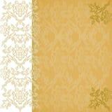 Год сбора винограда золота флористической границы предпосылки вертикальный Стоковое Изображение RF