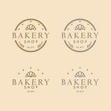 Год сбора винограда дизайна логотипа хлебопекарни круглый бесплатная иллюстрация