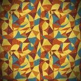 Год сбора винограда картины мозаики безшовный Стоковое фото RF