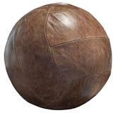 Год сбора винограда коричневого цвета кожи футбола футбола шарика стоковые фотографии rf