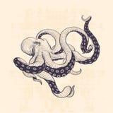 Год сбора винограда осьминога Стоковое Изображение RF