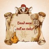 Год сбора винограда пиратствует предпосылку бесплатная иллюстрация