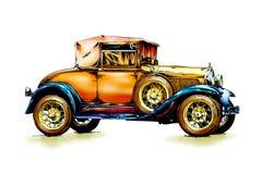 Год сбора винограда старого классического автомобиля ретро иллюстрация вектора