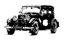 Год сбора винограда старого классического автомобиля ретро бесплатная иллюстрация
