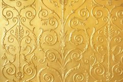 Год сбора винограда стены позолотил плитку Стоковые Фото