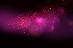 Год сбора винограда яркого блеска освещает предпосылку синь, серебр, пурпур и чернота де-сфокусированный Стоковое фото RF