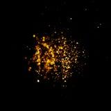 Год сбора винограда яркого блеска освещает предпосылку темное золото и чернота небо klaus santa заморозка рождества карточки мешк Стоковые Фото