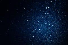Год сбора винограда яркого блеска освещает предпосылку черная синь Сфокусированный De Стоковая Фотография RF