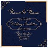 Год сбора винограда invitation9 Стоковое Фото