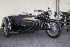 Год сбора винограда sidecar bmw Moto Стоковое Изображение