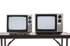 2 год сбора винограда Televisons изолированное на белизне Стоковые Изображения RF