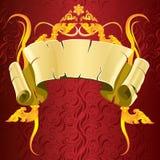 Год сбора винограда-thaiart-вектор-красный Стоковые Изображения RF