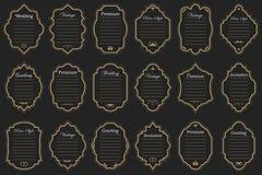 Год сбора винограда vectors рамки на предпосылке Стоковые Фото