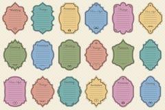 Год сбора винограда vectors рамки на предпосылке Стоковые Изображения RF