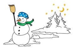 год снежка человека новый s рождества карточки предпосылки стоковое фото