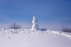год снежка человека новый s рождества карточки предпосылки Стоковая Фотография