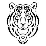 год тигра символа силуэта стилизованный Стоковая Фотография