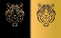 год тигра символа силуэта стилизованный Стоковое Изображение RF