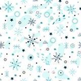 Голубая абстрактная безшовная картина Стоковое Изображение RF