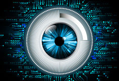 Голубая абстрактная высокая иллюстрация предпосылки технологии интернета скорости Стоковое Изображение