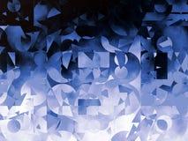Голубая абстрактная геометрическая иллюстрация предпосылки Стоковые Фотографии RF