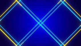 Голубая абстрактная предпосылка, двигая синь и линия золота иллюстрация штока