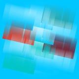 Голубая абстрактная предпосылка с квадратами и линиями градиента Стоковые Изображения