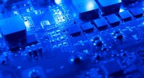 Голубая абстрактная предпосылка техника Стоковое фото RF