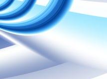 Голубая абстрактная предпосылка фрактали с пространственным влиянием 3D с яркими голубыми кривыми Стоковое Изображение RF