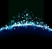Голубая абстрактная предпосылка Стоковые Изображения