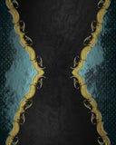 Голубая абстрактная рамка на черной предпосылке Элемент для конструкции Шаблон для конструкции скопируйте космос для брошюры объя Стоковые Фото