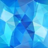 Голубая абстрактная сияющая предпосылка вектора льда Стоковое Фото