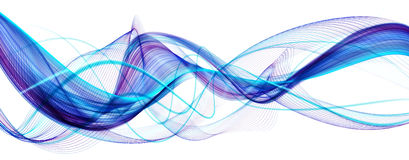 Голубая абстрактная современная волнистая предпосылка Стоковая Фотография